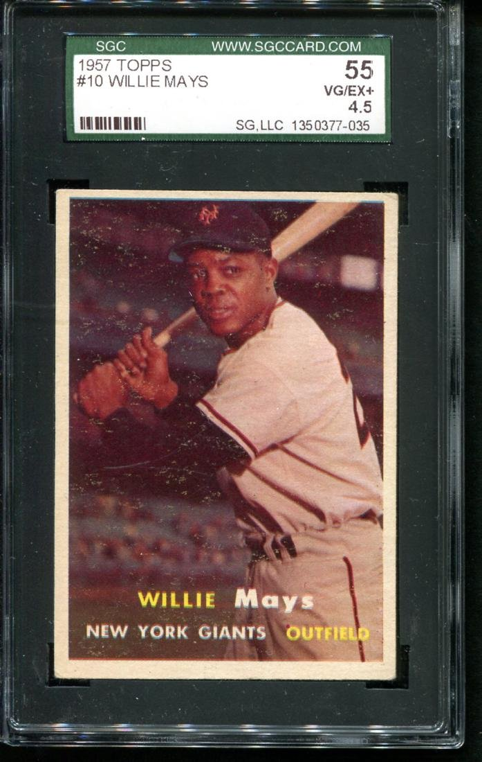 Lot of Three 1950's Topps Stars Graded. - 4