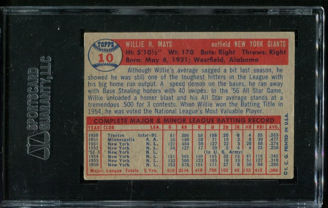 Lot of Three 1950's Topps Stars Graded. - 5