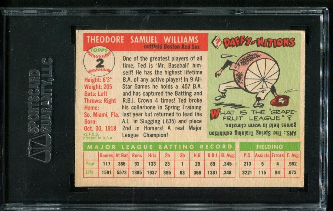 Lot of Three 1950's Topps Stars Graded. - 7