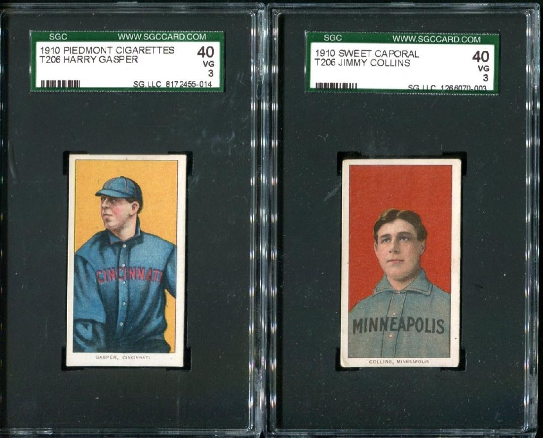 Lot of Two Graded T-206 Cards.