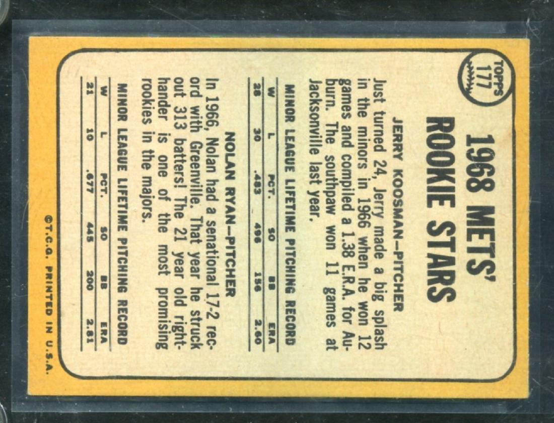 1968 Topps Nolan Ryan #177 Rookie Card - 2