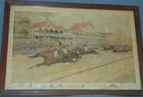 Currier & Ives Lithograph. Sheepshead Bay.