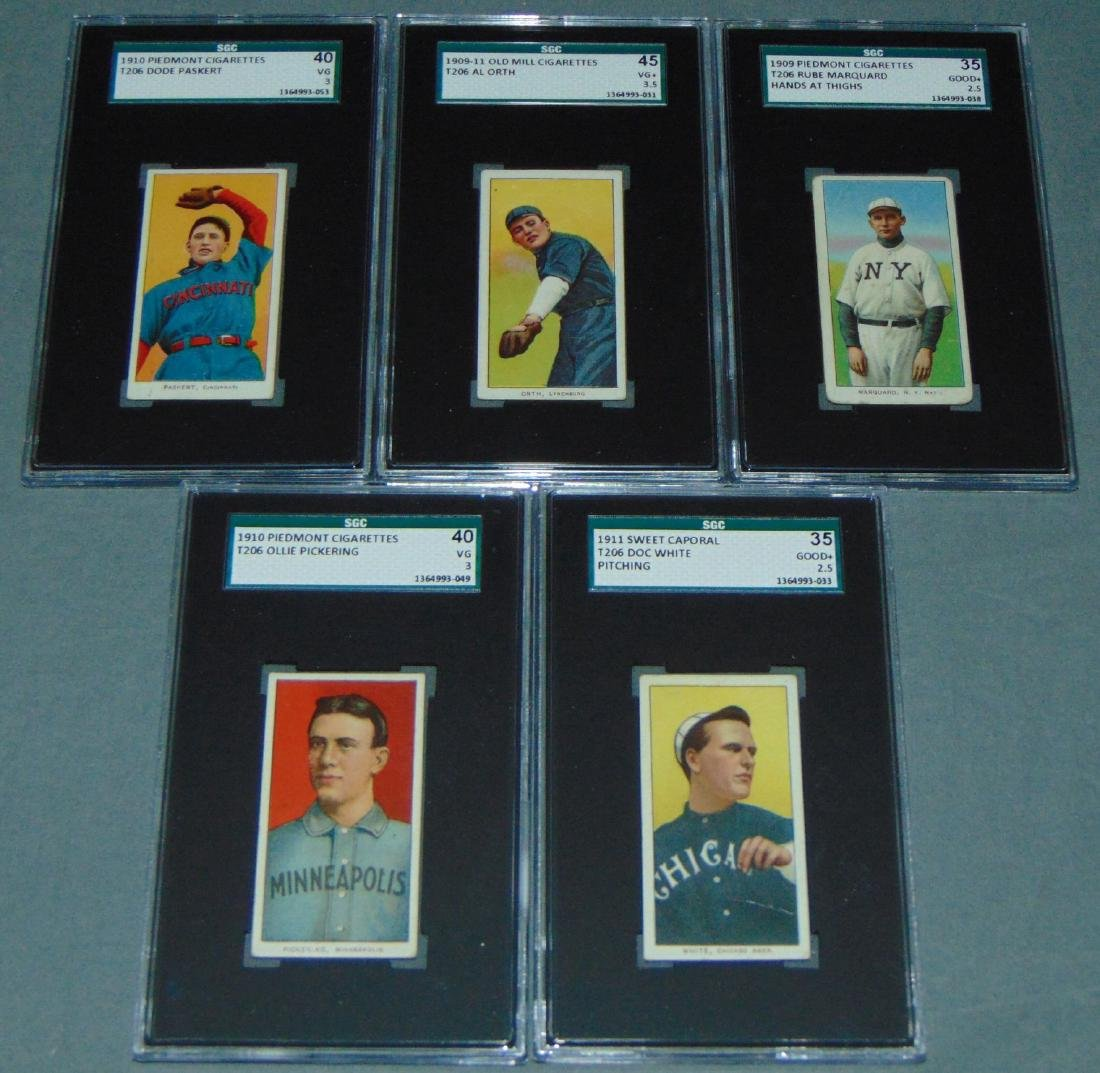 T-206 Baseball Lot Graded.