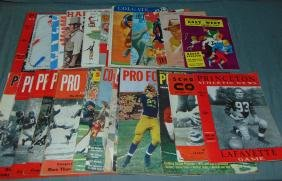 College and Pro Football Magazine and Program Lot.