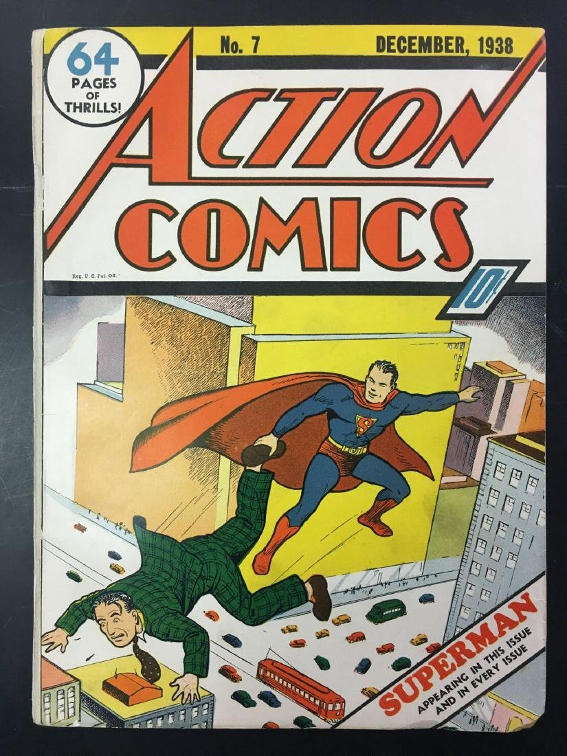 Action Comics #7. Key Book. 2nd Superman Cover.
