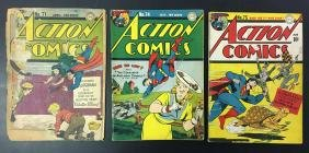 Action Comics Lot of Three.