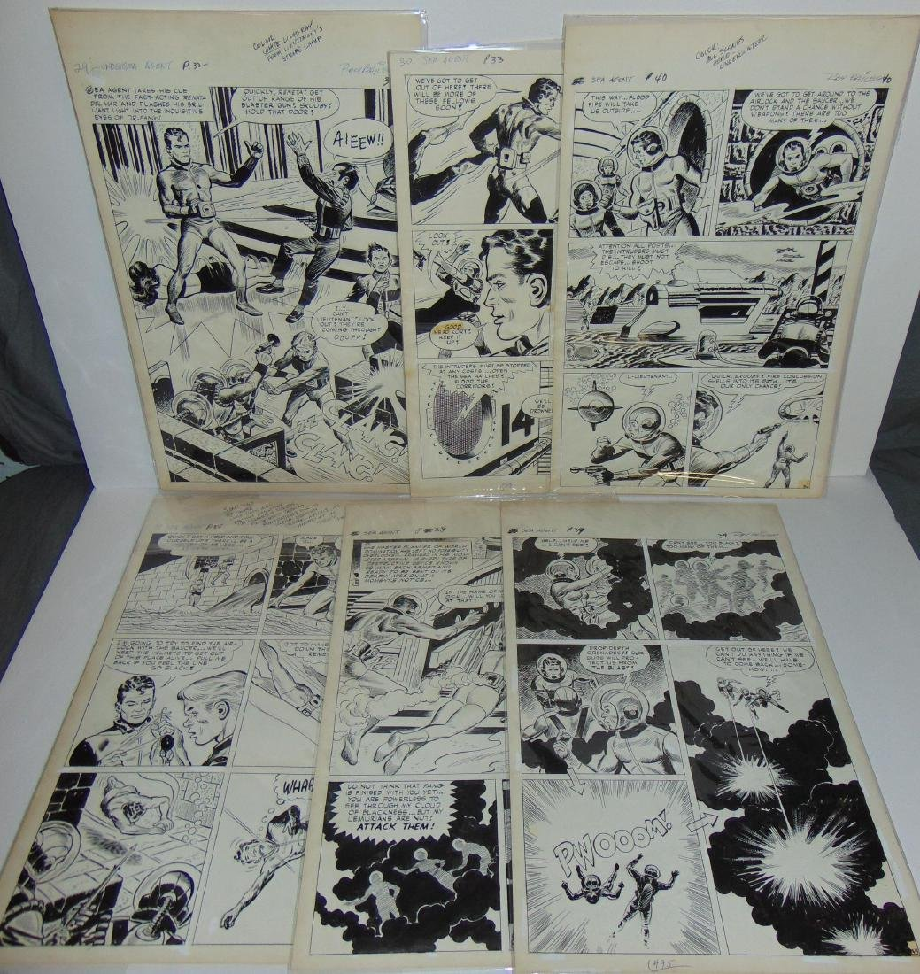 Ray Bailey. Original Comic Book Pages.