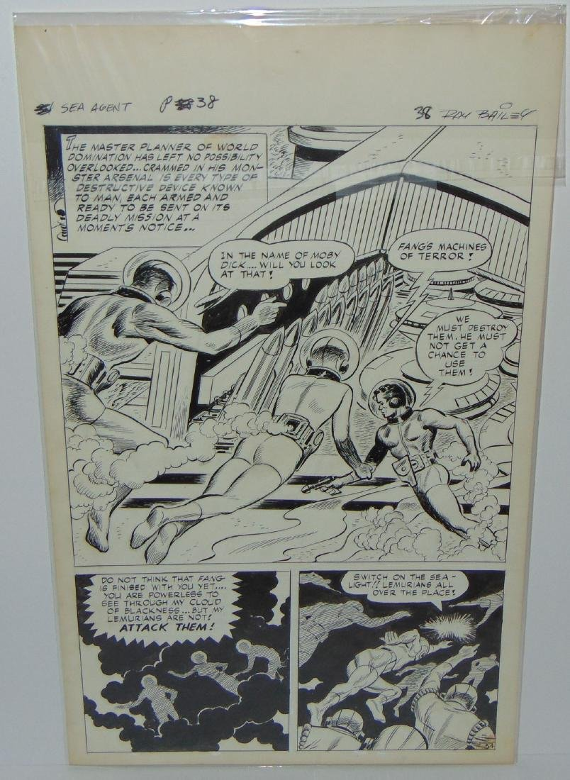 Ray Bailey. Original Comic Book Pages. - 6