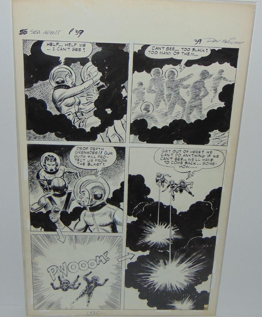 Ray Bailey. Original Comic Book Pages. - 7