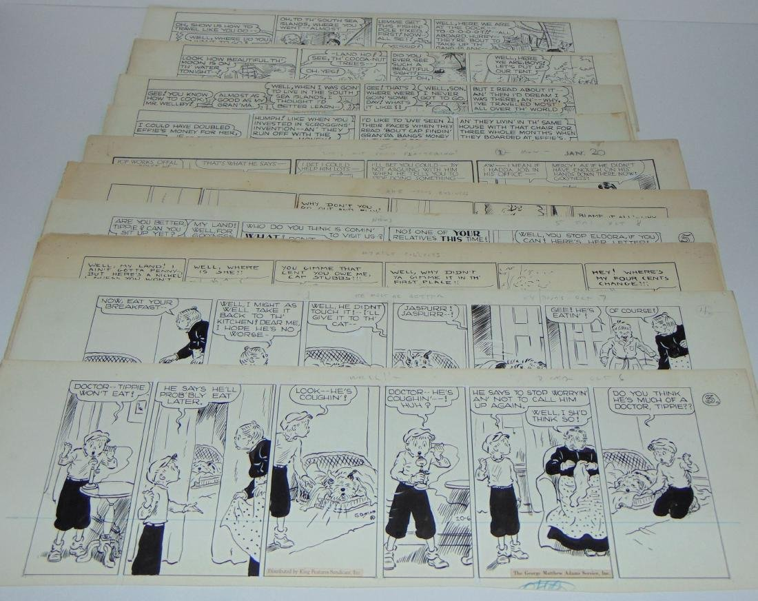 10 Cap Stubbs & Tippy Daily Comic Strips Orig Art