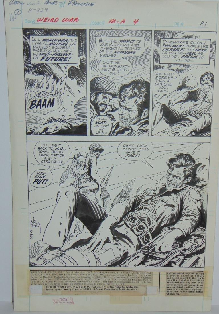 Joe Kubert. Weird War #4 Original Art. - 4