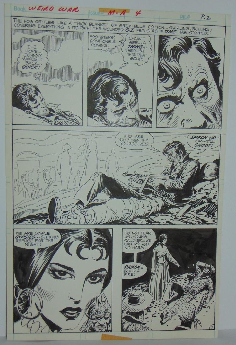 Joe Kubert. Weird War #4 Original Art. - 5