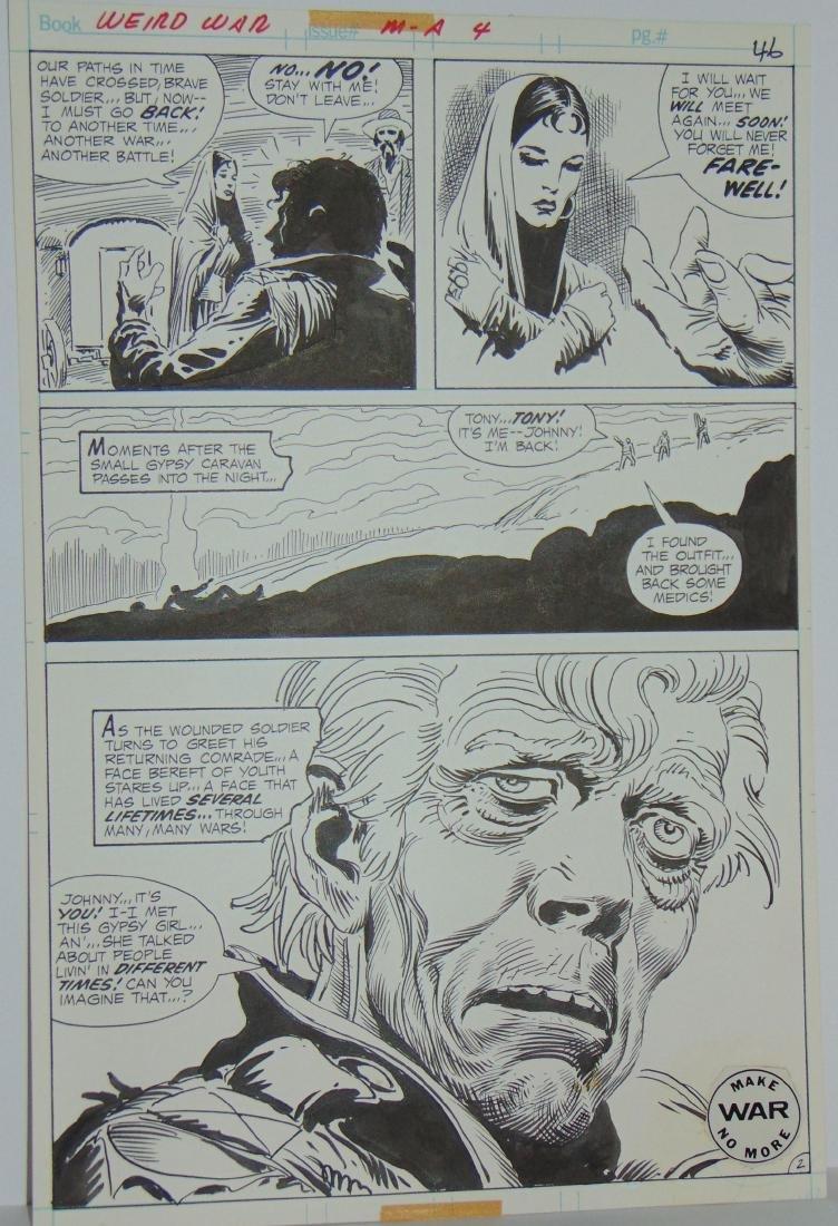 Joe Kubert. Weird War #4 Original Art. - 8