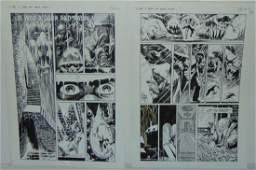 Joe Kubert Two Pages. Heavy Metal.