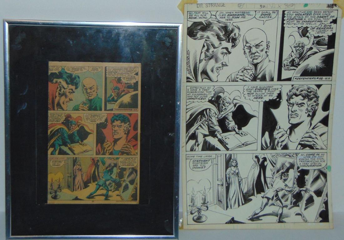 Dr. Strange Original Comic Page.