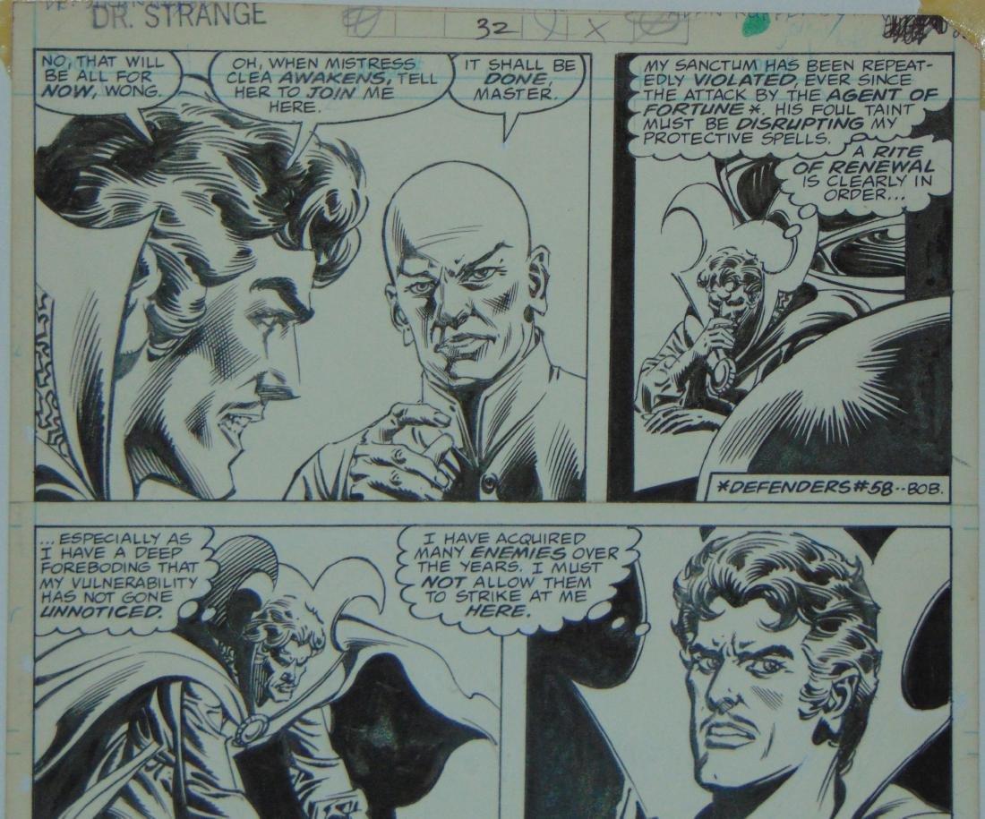 Dr. Strange Original Comic Page. - 3