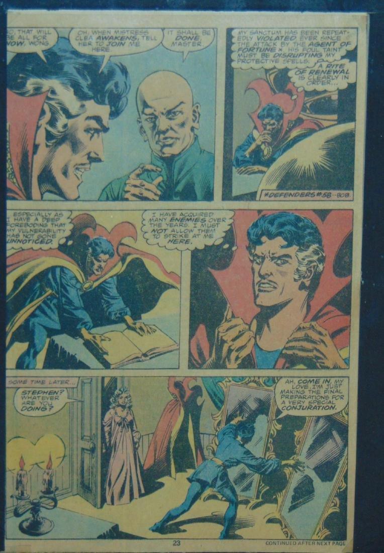 Dr. Strange Original Comic Page. - 6