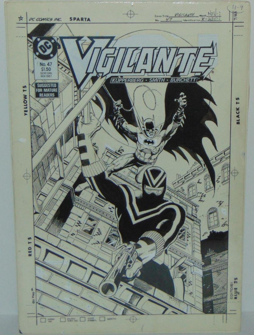 Original Comic Cover. Vigilante #47