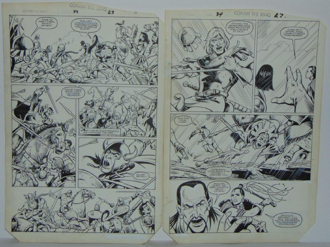 Conan the King. Issue #34 Pages 23 & 27