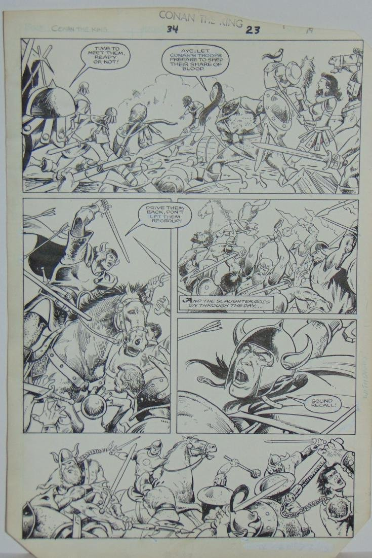 Conan the King. Issue #34 Pages 23 & 27 - 2