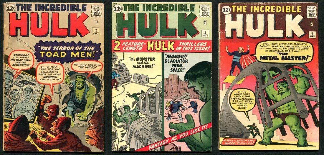 Incredible Hulk Issues 2, 4, & 6.