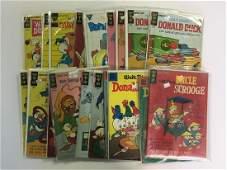 Gold Key Comic Lot Disney Uncle Scrooge  Donald