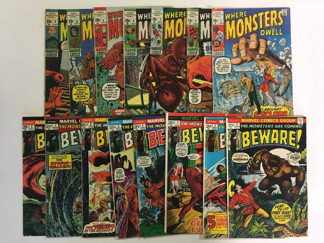 Lot of Mostly Sci Fi Horror Books. Marvel.