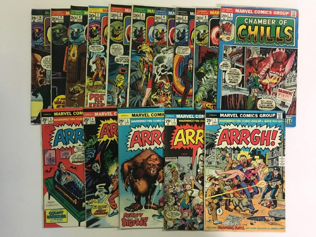 Lot of Mostly Sci Fi Horror Books. Marvel. - 2