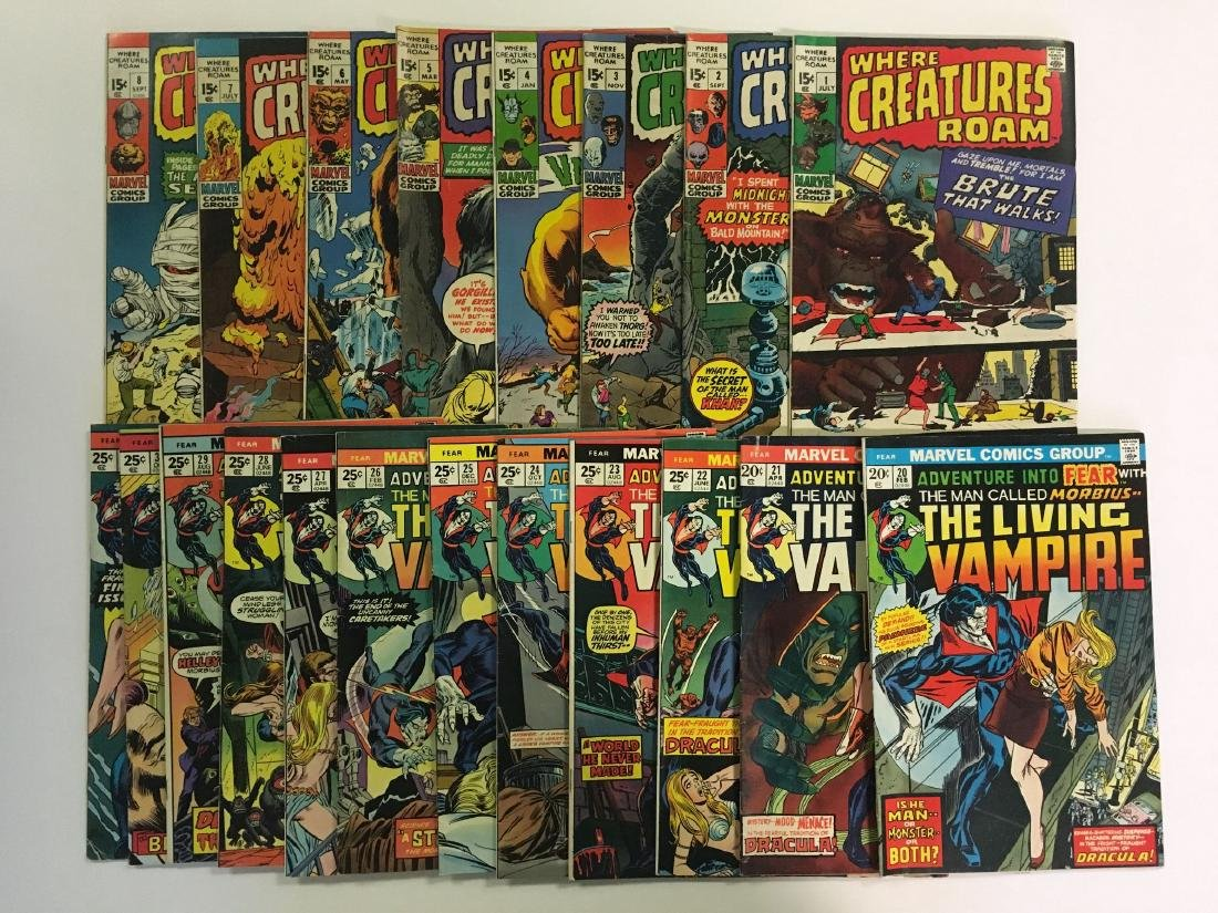 Lot of Mostly Sci Fi Horror Books. Marvel. - 3