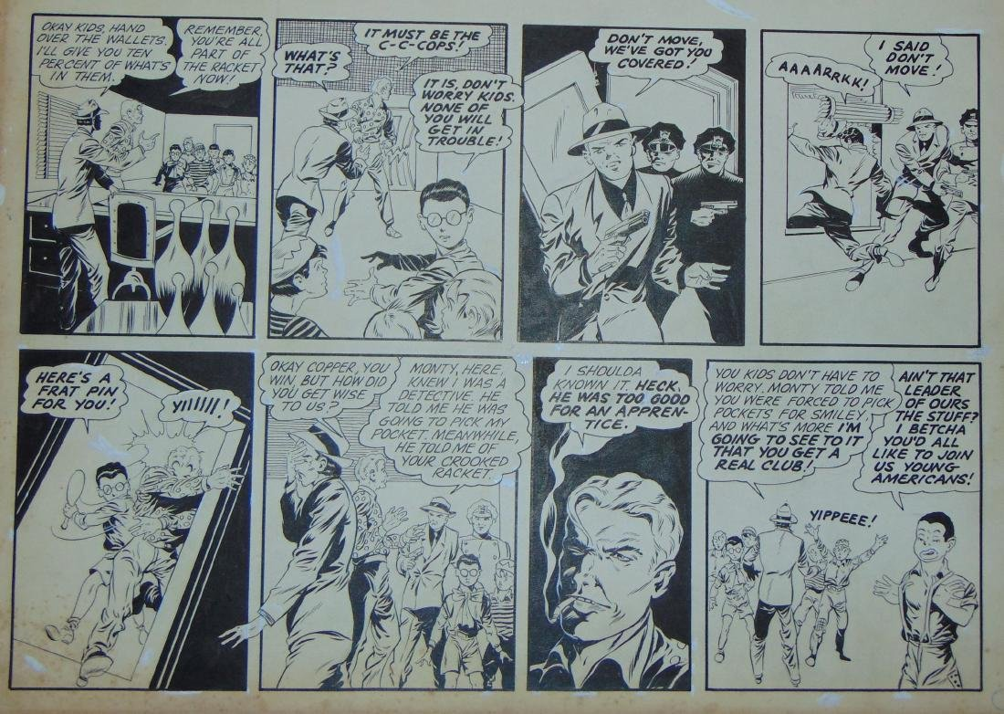 Golden Age. Young Americans. Comic Page.