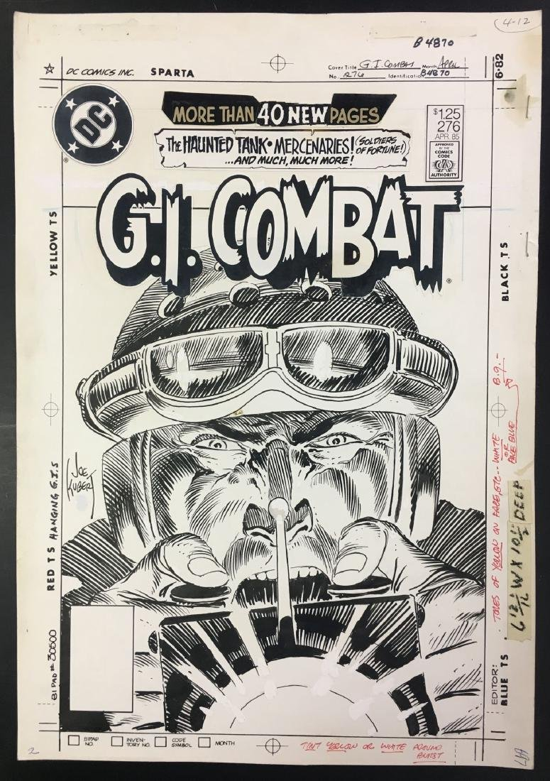 Joe Kubert. Original Cover Art. G.I. Combat #276.