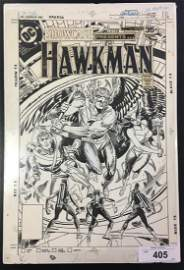 Joe Kubert. Original Cover. Hawkman Showcase # 101