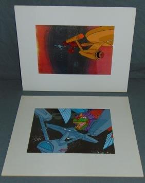 (2) Star Trek Filmation Cels, Animated Series
