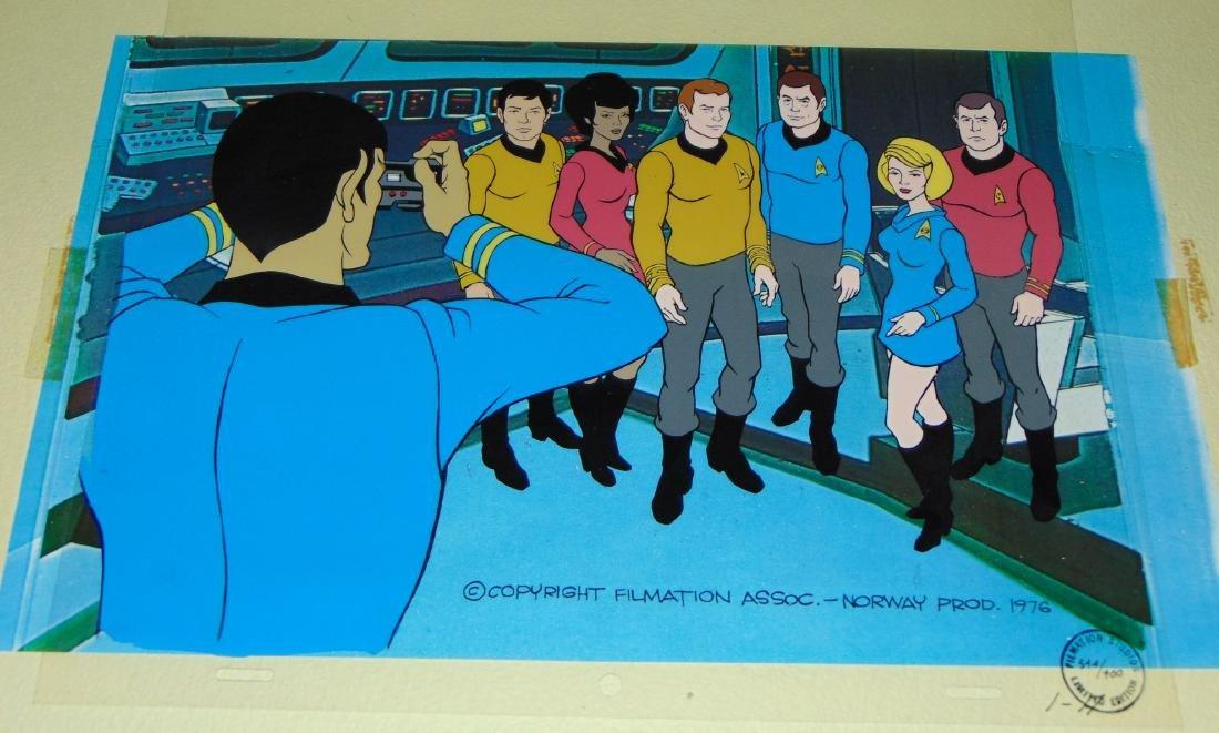 (2) Star Trek Filmation Cels, Animated Series - 2