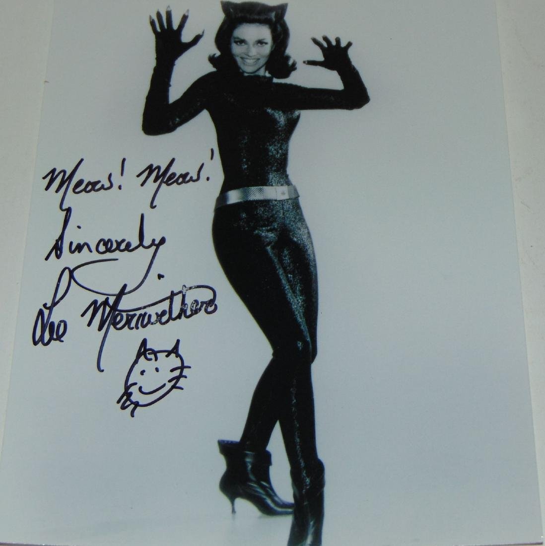Lee Meriwether Signed Catwoman Photo