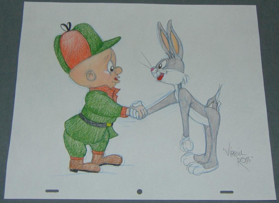 Virgil Ross Original Signed Drawing