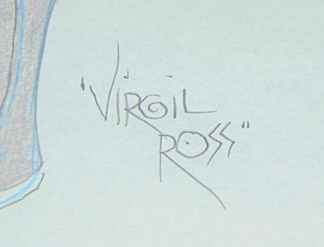 Virgil Ross Original Signed Drawing - 4