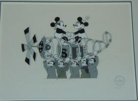 Disney Mickey & Minnie Mouse Serigraph Cel