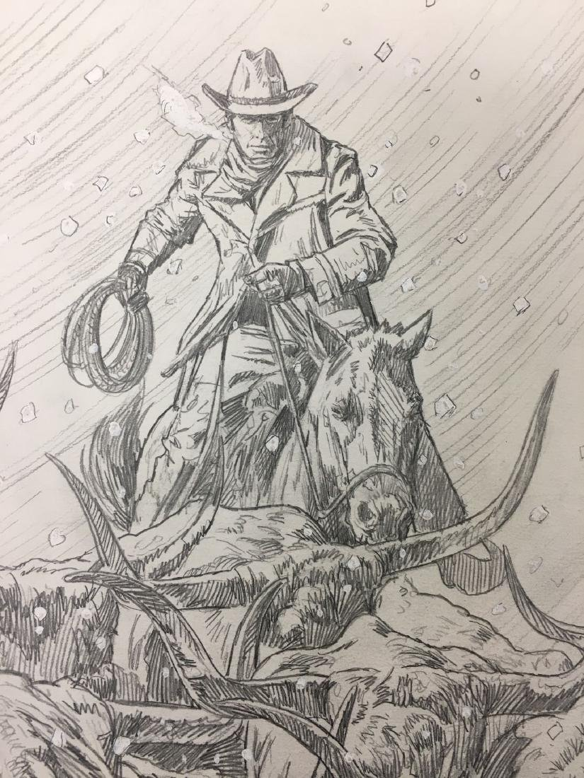 Bob Larkin, Original Western Pencil Illustration - 3