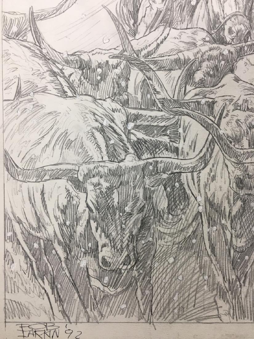 Bob Larkin, Original Western Pencil Illustration - 4