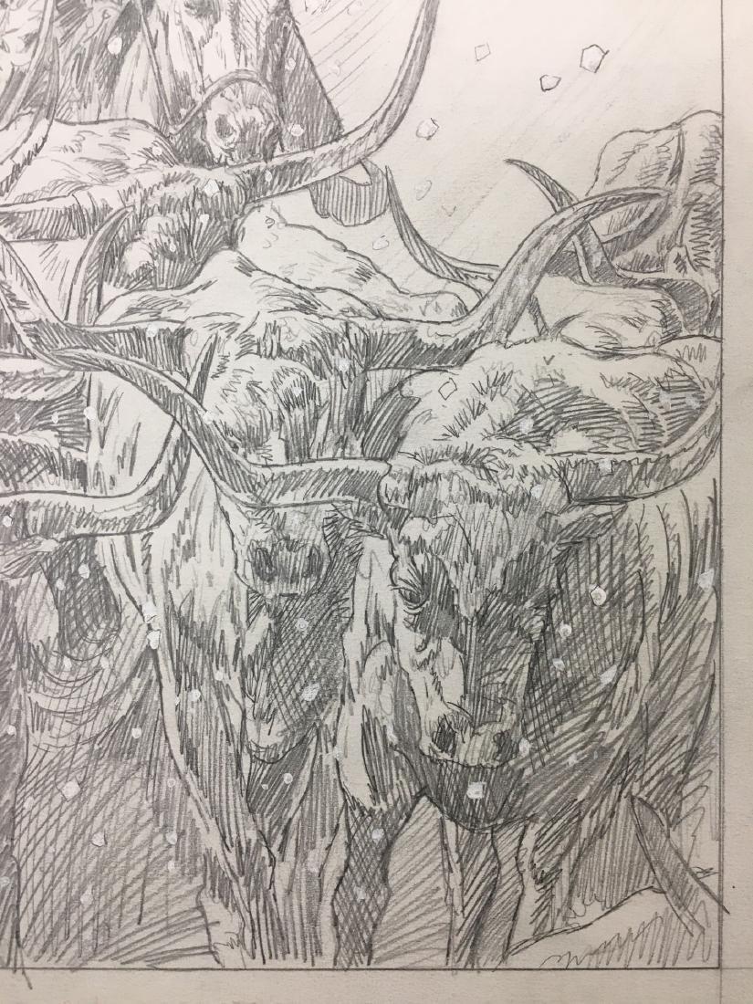 Bob Larkin, Original Western Pencil Illustration - 5
