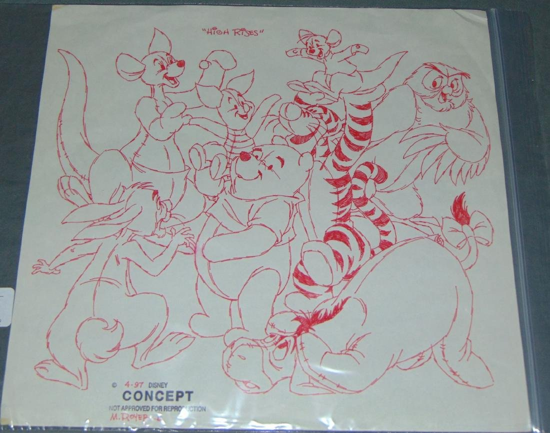 Winnie the Pooh & Friends Concept Drawing