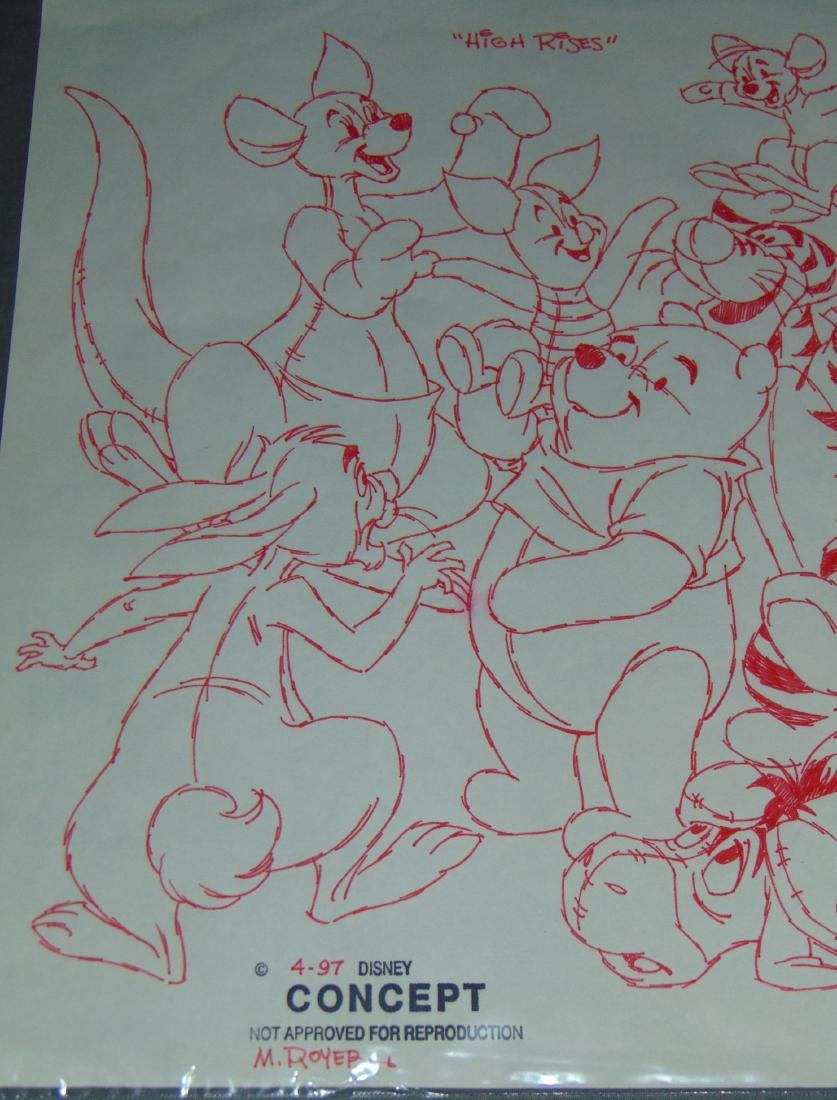 Winnie the Pooh & Friends Concept Drawing - 2