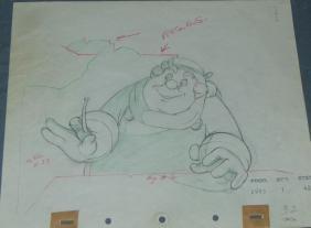 Pinocchio The Coachman Production Drawing