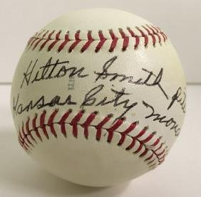 Hilton Smith. Single Signed Baseball.