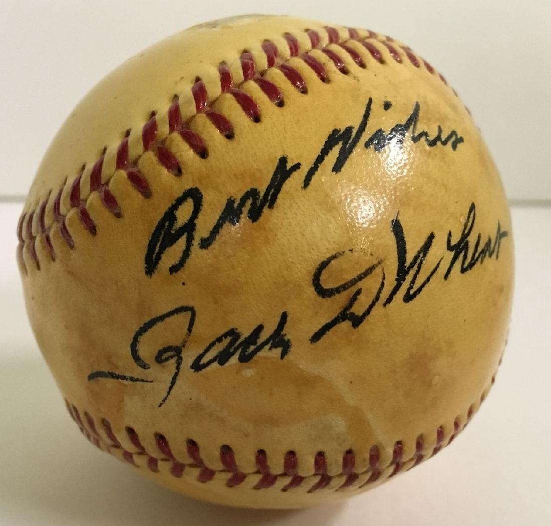 Zack Wheat Single Signed Baseball. - 2