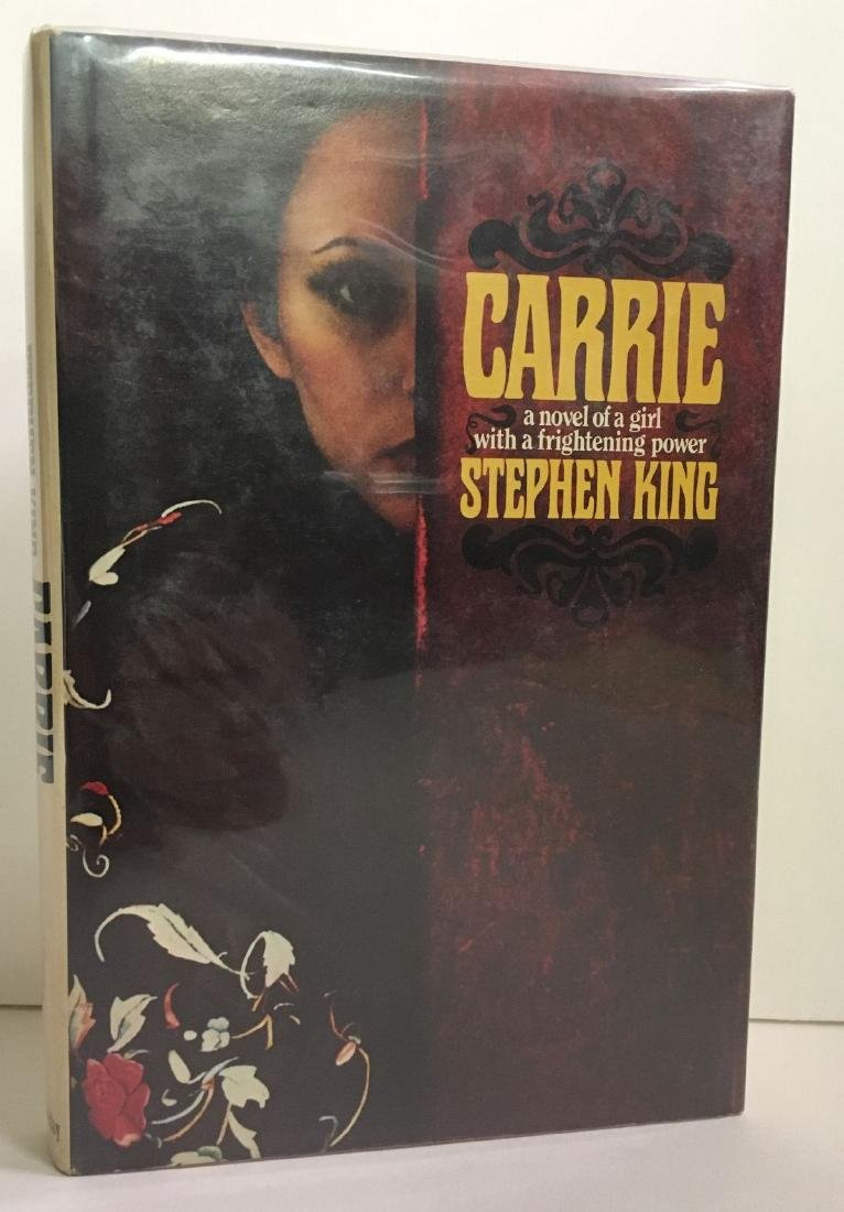 Carrie 1st Ed Book Signed by Stephen King