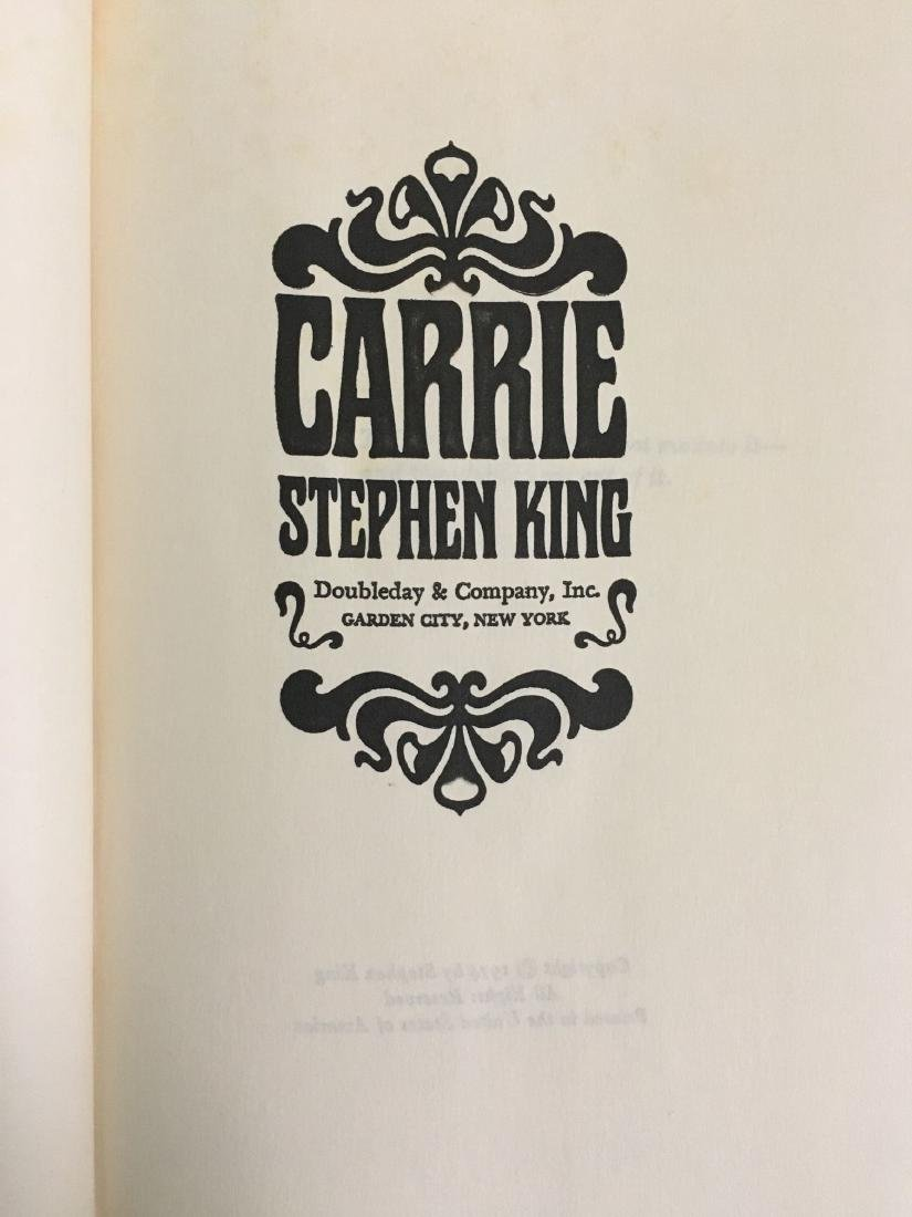 Carrie 1st Ed Book Signed by Stephen King - 3