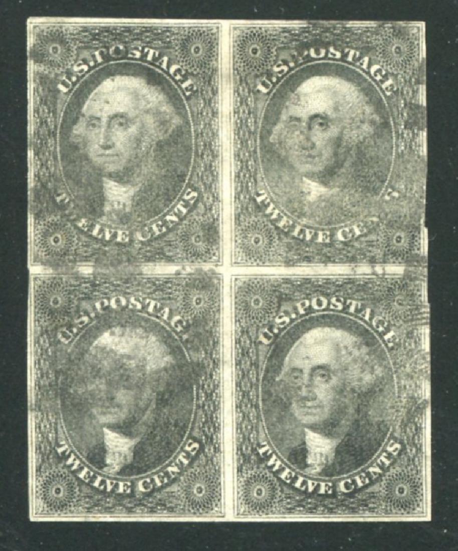 U.S. #17 Used block of four.