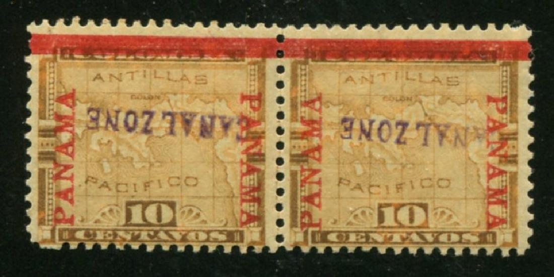 Canal Zone #3a Mint Pair.